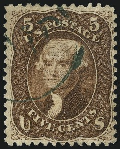 Sale Number 1014, Lot Number 1207, 1861-66 Issue (Scott 72-78b)5c Red Brown (75), 5c Red Brown (75)