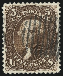 Sale Number 1014, Lot Number 1208, 1861-66 Issue (Scott 72-78b)5c Red Brown (75), 5c Red Brown (75)
