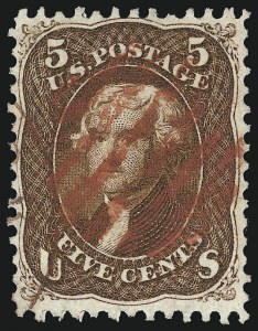 Sale Number 1014, Lot Number 1209, 1861-66 Issue (Scott 72-78b)5c Red Brown (75), 5c Red Brown (75)