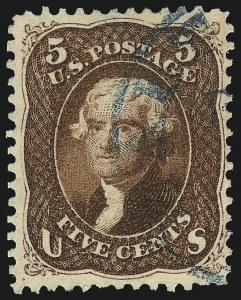Sale Number 1014, Lot Number 1210, 1861-66 Issue (Scott 72-78b)5c Red Brown (75), 5c Red Brown (75)