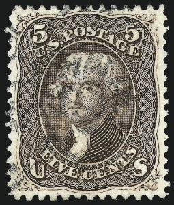 Sale Number 1014, Lot Number 1214, 1861-66 Issue (Scott 72-78b)5c Brown (76), 5c Brown (76)