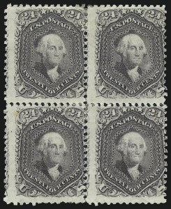 Sale Number 1014, Lot Number 1218, 1861-66 Issue (Scott 72-78b)24c Lilac (78), 24c Lilac (78)