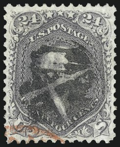 Sale Number 1014, Lot Number 1220, 1861-66 Issue (Scott 72-78b)24c Lilac (78), 24c Lilac (78)