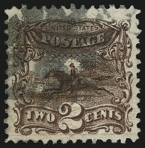 Sale Number 1014, Lot Number 1290, 1c-15c 1869 Pictorial Issue (Scott 112-119)2c Brown (113), 2c Brown (113)