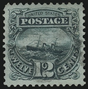 Sale Number 1014, Lot Number 1301, 1c-15c 1869 Pictorial Issue (Scott 112-119)12c Green (117), 12c Green (117)