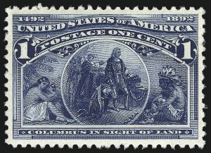 Sale Number 1014, Lot Number 1467, 1c-4c 1893 Columbian Issue (Scott 230-233)1c Columbian (230), 1c Columbian (230)