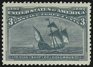 Sale Number 1014, Lot Number 1475, 1c-4c 1893 Columbian Issue (Scott 230-233)3c Columbian (232), 3c Columbian (232)