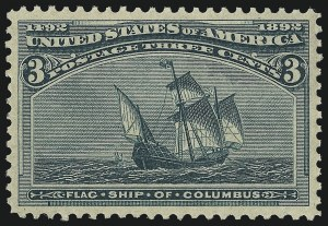 Sale Number 1014, Lot Number 1476, 1c-4c 1893 Columbian Issue (Scott 230-233)3c Columbian (232), 3c Columbian (232)