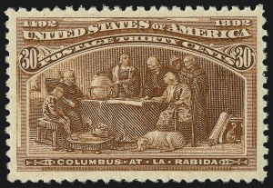 Sale Number 1014, Lot Number 1514, 30c-50c 1893 Columbian Issue (Scott 239-240)30c Columbian (239), 30c Columbian (239)