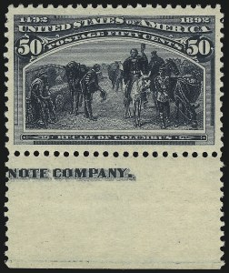 Sale Number 1014, Lot Number 1521, 30c-50c 1893 Columbian Issue (Scott 239-240)50c Columbian (240), 50c Columbian (240)