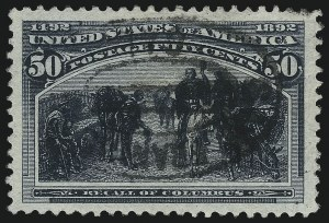 Sale Number 1014, Lot Number 1527, 30c-50c 1893 Columbian Issue (Scott 239-240)50c Columbian (240), 50c Columbian (240)