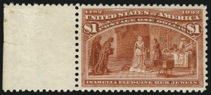 Sale Number 1014, Lot Number 1528, $1.00-$3.00 1893 Columbian Issue (Scott 241-243)$1.00 Columbian (241), $1.00 Columbian (241)