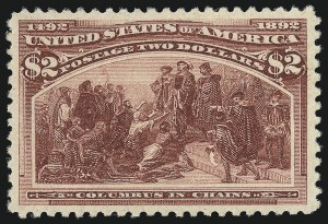Sale Number 1014, Lot Number 1538, $1.00-$3.00 1893 Columbian Issue (Scott 241-243)$2.00 Columbian (242), $2.00 Columbian (242)