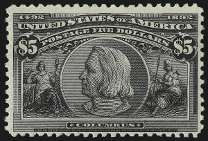Sale Number 1014, Lot Number 1563, $4.00-$5.00 1893 Columbian Issue (Scott 244-245)$5.00 Columbian (245), $5.00 Columbian (245)