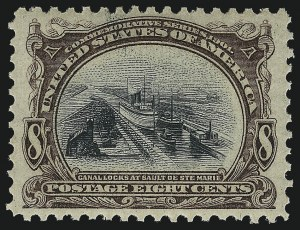 Sale Number 1014, Lot Number 1696, 1901 Pan-American Issue (Scott 294-299)8c Pan-American (298), 8c Pan-American (298)