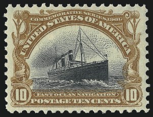 Sale Number 1014, Lot Number 1701, 1901 Pan-American Issue (Scott 294-299)10c Pan-American (299), 10c Pan-American (299)