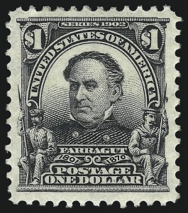 Sale Number 1014, Lot Number 1735, 1902-08 Issues (Scott 300-320a)$1.00 Black (311), $1.00 Black (311)