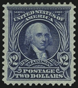 Sale Number 1014, Lot Number 1738, 1902-08 Issues (Scott 300-320a)$2.00 Dark Blue (312), $2.00 Dark Blue (312)