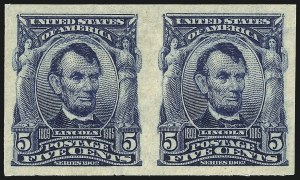 Sale Number 1014, Lot Number 1743, 1902-08 Issues (Scott 300-320a)5c Blue, Imperforate (315), 5c Blue, Imperforate (315)