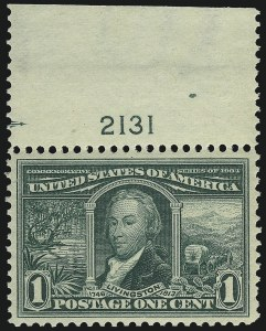 Sale Number 1014, Lot Number 1750, 1904 Louisiana Purchase, Jamestown Issues (Scott 323-330)1c Louisiana Purchase (323), 1c Louisiana Purchase (323)