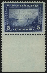 Sale Number 1014, Lot Number 1858, 1913 Panama Pacific Issue (Scott 397-404)5c Panama-Pacific (399), 5c Panama-Pacific (399)
