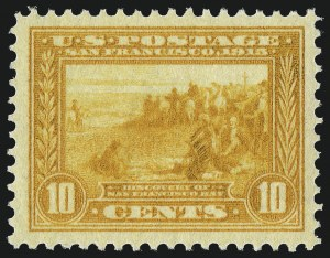 Sale Number 1014, Lot Number 1863, 1913 Panama Pacific Issue (Scott 397-404)10c Orange Yellow, Panama-Pacific (400), 10c Orange Yellow, Panama-Pacific (400)