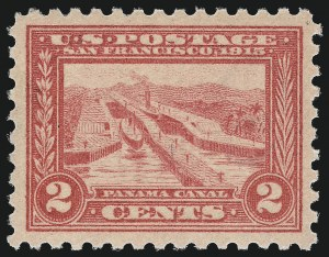 Sale Number 1014, Lot Number 1876, 1913 Panama Pacific Issue (Scott 397-404)2c Panama-Pacific, Perf 10 (402), 2c Panama-Pacific, Perf 10 (402)