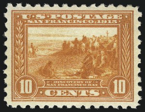 Sale Number 1014, Lot Number 1888, 1913 Panama Pacific Issue (Scott 397-404)10c Panama-Pacific, Perf 10 (404), 10c Panama-Pacific, Perf 10 (404)