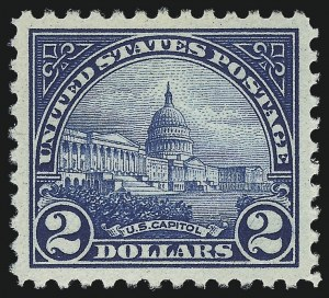 Sale Number 1014, Lot Number 2063, 1922 Issue (Scott 558-573)$2.00 Deep Blue (572), $2.00 Deep Blue (572)