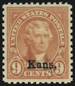 Sale Number 1014, Lot Number 2116, 1926 Issue thru Modern (Scott 634A-1520b)9c Kans. Ovpt. (667), 9c Kans. Ovpt. (667)