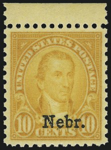 Sale Number 1014, Lot Number 2121, 1926 Issue thru Modern (Scott 634A-1520b)10c Nebr. Ovpt. (679), 10c Nebr. Ovpt. (679)