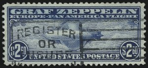 Sale Number 1014, Lot Number 2200, Air Post, Graf Zeppelin Issue (Scott C13-C15)$2.60 Graf Zeppelin (C15), $2.60 Graf Zeppelin (C15)