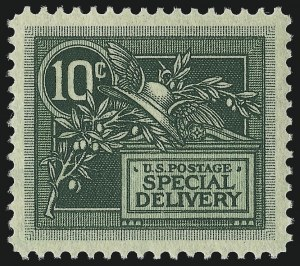 Sale Number 1014, Lot Number 2225, Special Delivery, Registration (Scott E1-E21, F1)10c Green, Special Delivery (E7), 10c Green, Special Delivery (E7)