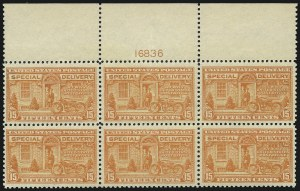 Sale Number 1014, Lot Number 2245, Special Delivery, Registration (Scott E1-E21, F1)15c Deep Orange, Special Delivery (E13), 15c Deep Orange, Special Delivery (E13)