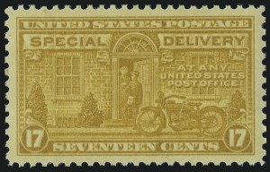 Sale Number 1014, Lot Number 2248, Special Delivery, Registration (Scott E1-E21, F1)17c Orange Yellow, Special Delivery (E18), 17c Orange Yellow, Special Delivery (E18)