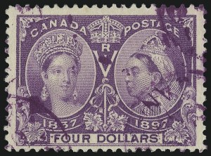 Sale Number 1016, Lot Number 1441, Foreign Stamps and Covers: Austria thru GermanyCANADA, 1897, $4.00 Jubilee (64; SG 139), CANADA, 1897, $4.00 Jubilee (64; SG 139)