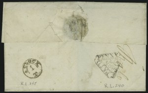 "Sale Number 1016, Lot Number 1484, Foreign Stamps and Covers: Great Britain and British OfficesLondon ""Dockwra"" Handstamp, ca. 1780's, London ""Dockwra"" Handstamp, ca. 1780's"