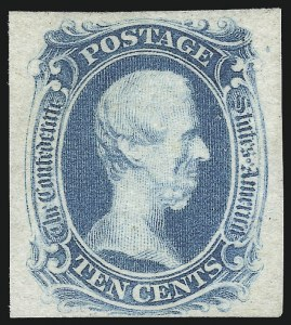 "Sale Number 1016, Lot Number 668, Confederate States: General Issues Off Cover10c Blue, ""TEN"" (9), 10c Blue, ""TEN"" (9)"