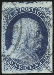 Sale Number 1016, Lot Number 932, Specialized 1c 1851 Issue: Including Further Parts of the Wagshal Collection1c Blue, Ty. IIIa (8A), 1c Blue, Ty. IIIa (8A)