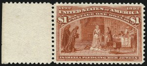 Sale Number 1017, Lot Number 629, 1893 Columbian Issue (Scott 230-245)$1.00 Columbian (241), $1.00 Columbian (241)