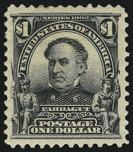 Sale Number 1017, Lot Number 755, 1902-08 Issues (Scott 300-330)$1.00 Black (311), $1.00 Black (311)