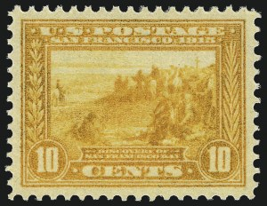 Sale Number 1017, Lot Number 789, 1913-15 Panama-Pacific Issue (Scott 397-404)10c Orange Yellow, Panama-Pacific (400), 10c Orange Yellow, Panama-Pacific (400)