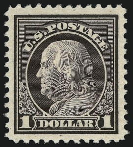 Sale Number 1017, Lot Number 842, 1916-21 Issues (Scott 467-550)$1.00 Violet Brown (518), $1.00 Violet Brown (518)