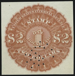 Sale Number 1018, Lot Number 10, 1866 Issue (Scott REA1-REA6)1866, $2.00 Red, 1hhd., Beer (REA6; Priester 6A), 1866, $2.00 Red, 1hhd., Beer (REA6; Priester 6A)