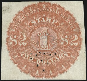 Sale Number 1018, Lot Number 11, 1866 Issue (Scott REA1-REA6)1866, $2.00 Red, 1hhd., Beer (REA6; Priester 6B), 1866, $2.00 Red, 1hhd., Beer (REA6; Priester 6B)