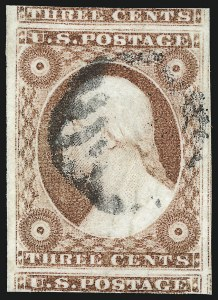 Sale Number 1019, Lot Number 346, 3c-12c 1851-56 Issue (Scott 10-17)3c Dull Red, Ty. II (11A), 3c Dull Red, Ty. II (11A)