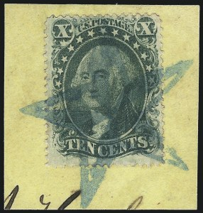 Sale Number 1019, Lot Number 376, 10c-90c 1857-60 Issue and 1875 Reprint (Scott 32-47)10c Green, Ty. II (32), 10c Green, Ty. II (32)