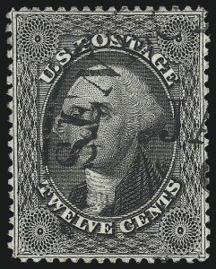Sale Number 1019, Lot Number 378, 10c-90c 1857-60 Issue and 1875 Reprint (Scott 32-47)12c Black, Plate 1 (36), 12c Black, Plate 1 (36)