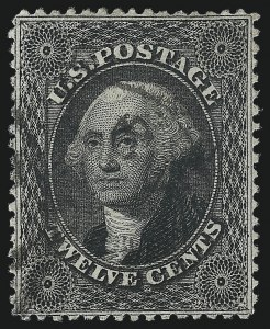 Sale Number 1019, Lot Number 379, 10c-90c 1857-60 Issue and 1875 Reprint (Scott 32-47)12c Black, Plate 1 (36), 12c Black, Plate 1 (36)