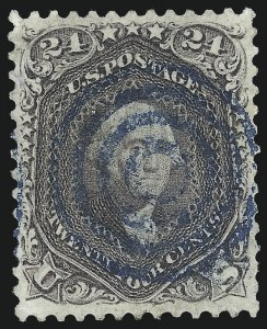 Sale Number 1019, Lot Number 410, 1861-66 Issue (Scott 63TC-78)24c Lilac (78), 24c Lilac (78)